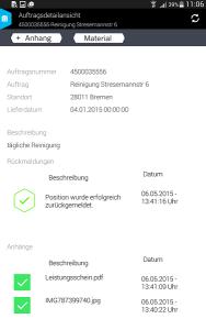 Smart Work Mobile_Auftrag Rückmeldung incl. Rückmeldstatus