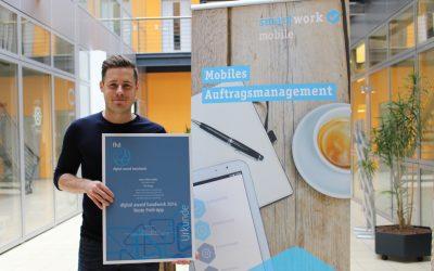 DIGITAL AWARD HANDWERK 2016 – Smartwork Mobile ist die beste Profi-App