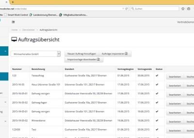 Smart Work Control_Auftragsübersicht im Portal